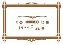 Vector architectur элемента для создавать границы & рамки Стоковая Фотография