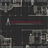 Vector architectural background Stock Image