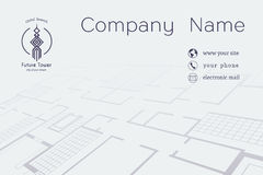 Vector Architectural Business Card Royalty Free Stock Images