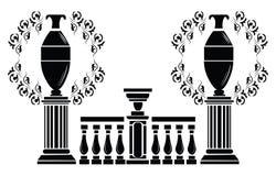 Vector Architectural decorative columns Stock Image
