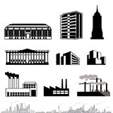 Vector architecture. Black Vector architecture designs on isolated white background Royalty Free Stock Images