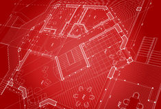 Vector architecture plan Royalty Free Stock Image