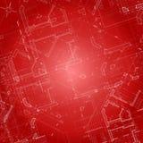Vector architectuurplan Royalty-vrije Stock Afbeeldingen