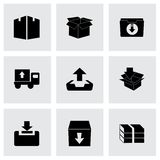 Vector archive icon set Royalty Free Stock Image
