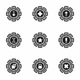 Vector Archive icon set. On white background Stock Photography