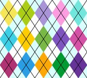 Vector argyle. Vector colourful argyle seamless pattern, repeating design, all elements are on separate layers for easy editing and color change, scale to any Stock Photography