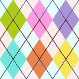 Vector argyle. Vector colourful argyle seamless pattern, repeating design, all elements are on separate layers for easy editing and color change, scale to any Royalty Free Stock Image