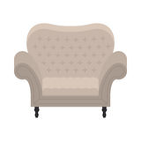 Vector armchair in flat style Stock Image