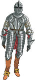 Vector armor medieval knight Royalty Free Stock Image