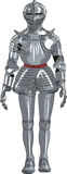Vector armor medieval knight Stock Photography