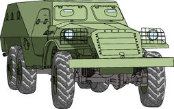 Vector  armored troop-carrier Royalty Free Stock Images