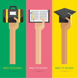 Vector arms and hand Education set learn Graduate Stock Photography