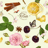 Vector aromatic tea pattern Stock Photo