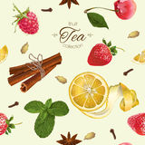 Vector aromatic tea pattern Royalty Free Stock Images