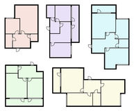 Vector arquitectónico del proyecto del apartamento Imágenes de archivo libres de regalías