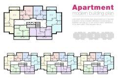 Vector arquitectónico del proyecto del apartamento Fotos de archivo libres de regalías