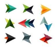 Vector arrow business geometric stickers Stock Photos