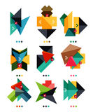 Vector arrow business geometric stickers Stock Images