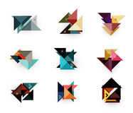 Vector arrow business geometric stickers Royalty Free Stock Photography