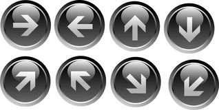 Vector arrow buttons Royalty Free Stock Photo