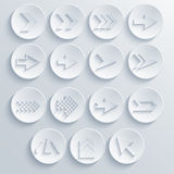 Vector arrow circle icon set. Eps 10 Stock Images