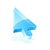 Vector arrow cursor. Vector blue arrow cursor icon isolated on white for your design Royalty Free Stock Image