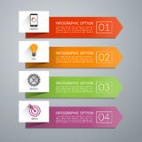 Vector arrow design elements for infographics. Arrow design elements for business infographics. Minimal colorful numbered banners for diagram, graph, report royalty free illustration