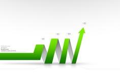 Vector arrow graph. Vector illustration of green arrow graph Royalty Free Stock Photography