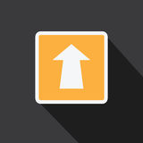 Vector of Arrow icon in longs shadow style. Stock Photo