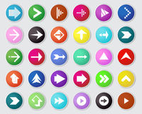 Vector of arrow icon set. Royalty Free Stock Photos