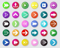 Vector of arrow icon set. Royalty Free Stock Image