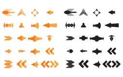 Vector arrow icons. A stylish arrow icons vector Royalty Free Stock Photos
