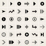 Vector arrow icons. Set of vector black arrow icons Royalty Free Stock Photos