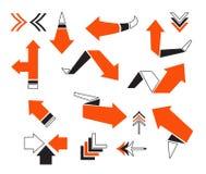 Vector arrow illustration Stock Photos