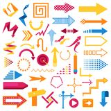 Vector arrow infographic symbol abstract icons set sign arrowhead design direction illustration business graphic design Royalty Free Stock Photos