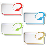 vector arrow labels Royalty Free Stock Photo