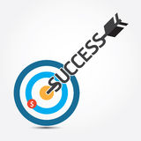 Vector arrow money business  on target concept. Royalty Free Stock Image