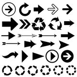 Vector arrow movement points Stock Image