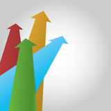 Vector arrow profit background Stock Photo