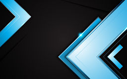 Vector arrow shape metallic frame layout design background template Royalty Free Stock Image