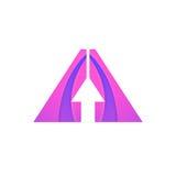 Vector arrow sign abstract pointer icon logo design. Arrow sign abstract pointer icon logo design Royalty Free Stock Photography