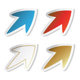 Vector arrow stickers Royalty Free Stock Image
