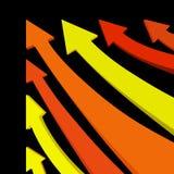 Vector arrows. Colorful vector arrows pointing upwards vector illustration