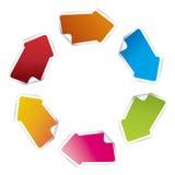 Vector arrows. Blank color ribbon arrows design element Stock Photography
