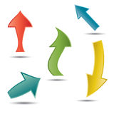 Vector arrows Stock Image