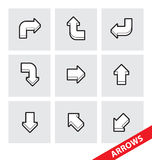 Vector Arrows Royalty Free Stock Photos