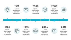 Vector arrows circles timeline infographic, diagram chart, graph presentation. Business progress concept with 7 options Stock Photo