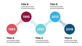 Vector arrows circles timeline infographic, diagram chart, graph presentation.. Circle arrows diagram for graph infographic presentation with steps parts Royalty Free Stock Image