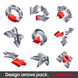 Vector arrows. Design elements. 3D symbol for your artwork Royalty Free Stock Photography