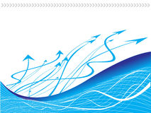 Vector arrows and eave lines Stock Images